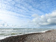 Baltic sea coast and beautiful clouds, Lithuania royalty free stock photo
