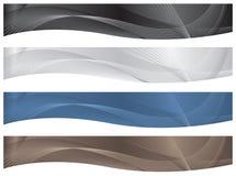 wavy banertitelradfrilägen vektor illustrationer