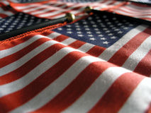 Wavy Banner. A wavy background of American Flags stock photo