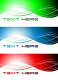 Wavy banners Stock Photography