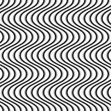 Wavy, billowy, undulating lines. Seamless geometric monochrome p. Attern / texture.- Royalty free vector illustration Royalty Free Stock Image