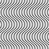 Wavy, billowy, undulating lines. Seamless geometric monochrome p. Attern / texture.- Royalty free vector illustration Stock Photography