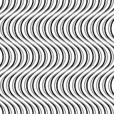 Wavy, billowy, undulating lines. Seamless geometric monochrome p. Attern / texture.- Royalty free vector illustration Royalty Free Stock Images