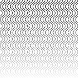 Wavy, billowy zigzag lines. Stock Photos