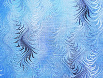 wavy blå textur Royaltyfria Bilder