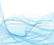 wavy blå vektor för abstrakt bakgrund stock illustrationer
