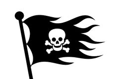 Piracy and Pirate flag Royalty Free Stock Image