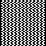 Wavy Black and White Chevron Ikat Pattern Stock Photo