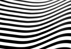 Wavy black and white stripes Royalty Free Stock Images