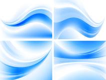 Wavy blue backgrounds Royalty Free Stock Photos