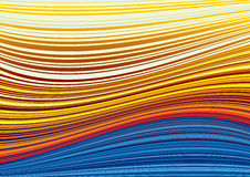 Wavy blue and yellow stripes Stock Photography