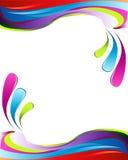 Colorful wavy border. A colorful wavy border illustration stock illustration
