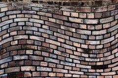 Wavy, brick background Royalty Free Stock Photos