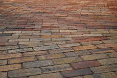 Wavy brick walkway. Royalty Free Stock Photo