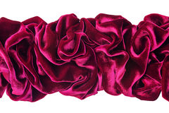 Wavy burgundy velvet Royalty Free Stock Photo