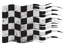 Wavy Checkered Flag Grunged Royalty Free Stock Photography