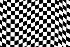 Wavy checkered pattern. Hi contrast wavy checkerboard pattern in cloth Stock Photos
