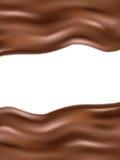 Wavy chocolate background. EPS 10 Stock Photography