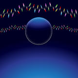 Wavy Christmas Light String Background Royalty Free Stock Photography