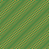 Wavy Christmas pattern seamless. Original pattern with waves illusion. Ready to be repeated in all directions seamlessly. Seasonal texture. Vector (Illustrator Stock Photo