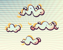 Wavy clouds in the sunbeams Stock Photography