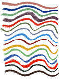 Wavy color  lines with soft pastel crayons Royalty Free Stock Photography
