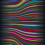 Wavy color stripes Royalty Free Stock Images