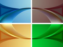 Wavy colored backgrounds Royalty Free Stock Photo