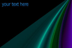 Wavy colored strips with space for text Royalty Free Stock Photo