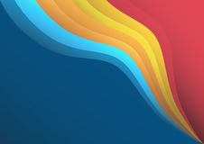 Wavy colorful background. Gradient shapes royalty free illustration