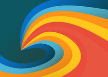 Wavy colorful background. Gradient shapes vector illustration