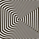 Wavy crossed stripes optical illusion black and white vector Stock Photography