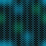 Wavy dark abstract background, green and blue waves on black , blurry lights, seamless patterns Stock Image