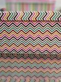 Wavy decoration on box. Colored wavy decoration on box Royalty Free Stock Photo