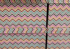 Wavy decoration on box. Colored wavy decoration on box Stock Images