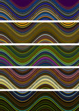 Wavy Design and Multicolored Royalty Free Stock Photography