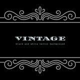 Wavy diamond frame. Diamond pattern on black background, vintage wavy frame Royalty Free Stock Photography