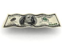 Wavy dollar bill Stock Photography