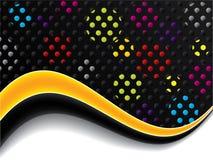Wavy dots Royalty Free Stock Photos
