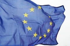 Wavy EU flag Royalty Free Stock Images