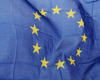 Wavy EU flag Royalty Free Stock Photography