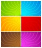 wavy färgrik linje för bakgrunder Vektor Illustrationer