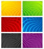 wavy färgrik linje för bakgrunder Stock Illustrationer