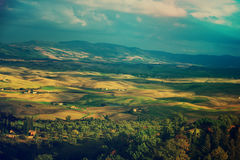 Wavy fields in Tuscany Stock Image