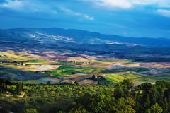 Wavy fields in Tuscany Royalty Free Stock Images