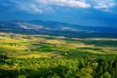 Wavy fields in Tuscany Royalty Free Stock Photography