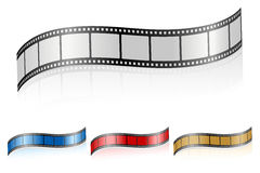Wavy film strip 3 Stock Image