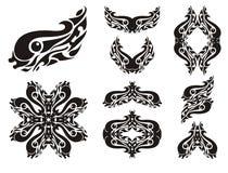 Wavy fish symbols Royalty Free Stock Image