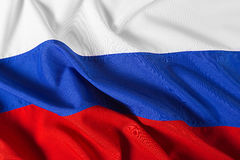 Wavy flag of Russia Royalty Free Stock Images