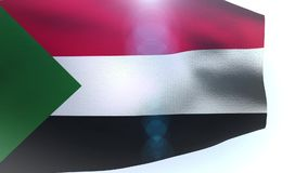 Wavy flag of Sudan waving in the wind. Video stock footage